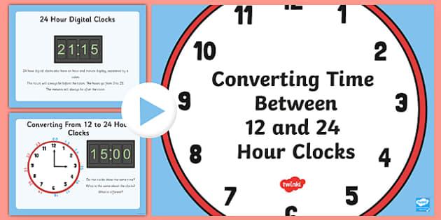12 and 24 Hour Clock Conversion - 12, 24, hour, clock, conversion, 12 hour, 24 hour, clock conversion, time