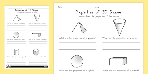 Year 1 Properties of Shapes Activity Sheets - australia, shapes, worksheet