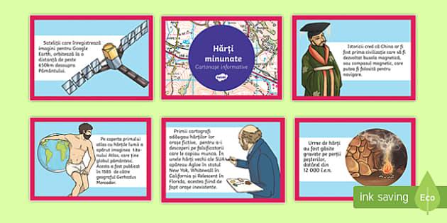 Hărți minunate, Cartonașe informative