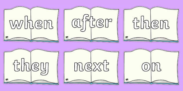 Sentence Starters On Books - Sentence starter, writing sentences, vocabulary, writing aid, how to start a sentence, the, next, there, sentance, setence, sentnces