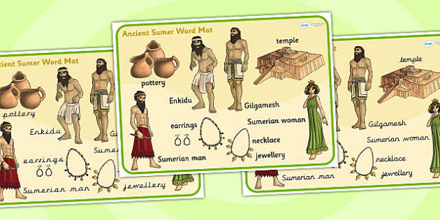 Ancient Sumer Word Mat - sumer, history, word mat, visual aid