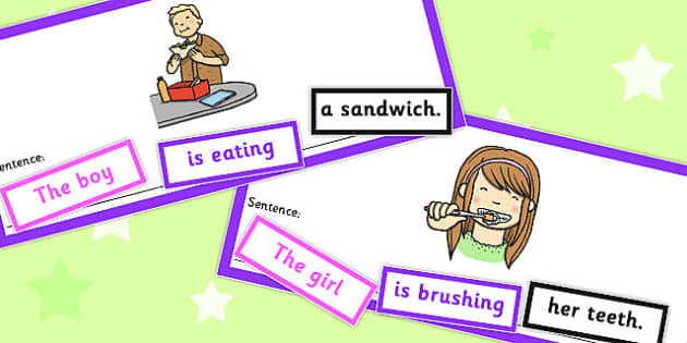 SVO Sentence Cut Up Cards - svo, sentence, cut up, cards, sen