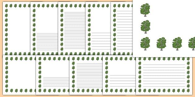 Beech Tree Themed Page Borders - beech tree, themed, page borders, page, borders, beech, tree