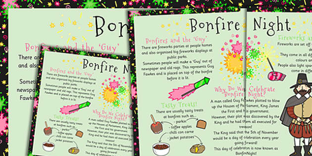 Bonfire Night Large Information Poster KS1 - Bonfire, Fire, KS1