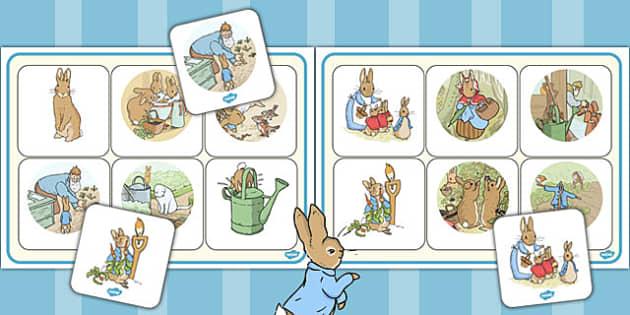 The Tale of Peter Rabbit Matching Mat - peter rabbit, matching