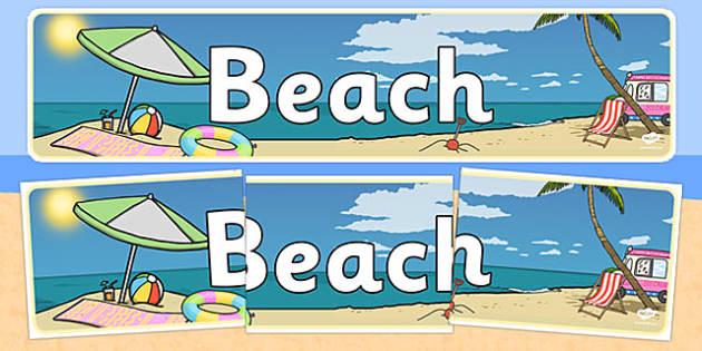 Beach Themed Banner - seaside, summer, holidays, header