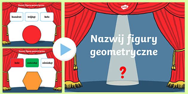 Prezentacja PowerPoint Quiz Nazwij figury geometryczne