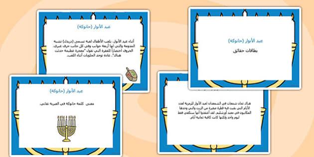 بطاقات حقائق عن عيد الأنوار (حانوكة) - حانوكة، عيد الأنوار
