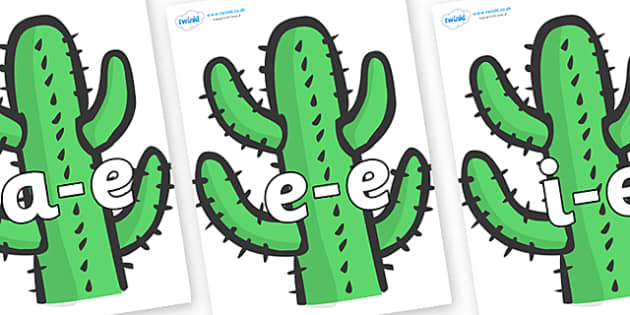 Modifying E Letters on Cactus - Modifying E, letters, modify, Phase 5, Phase five, alternative spellings for phonemes, DfES letters and Sounds