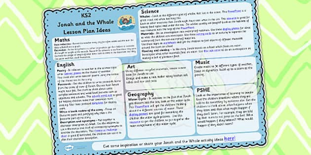 Jonah and the Big Fish Lesson Plan Ideas KS2 - lesson plan, KS2