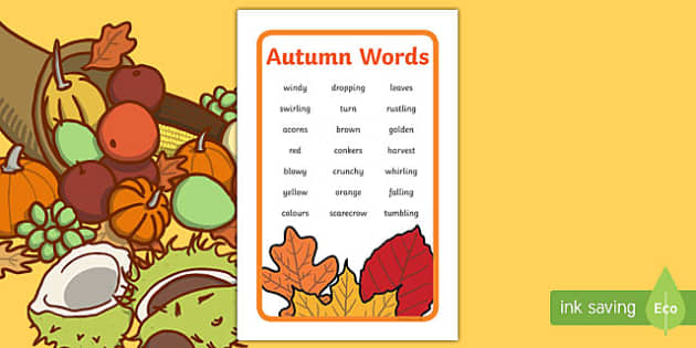 IKEA Tolsby Autumn Words Prompt Frame