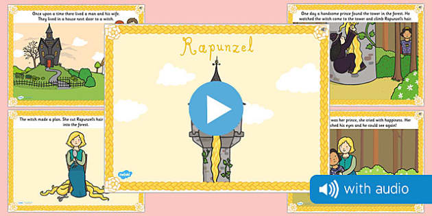 Rapunzel Narrated Story - traditional tale, sounds, spoken, auditory, listening, early years, ks1, key stage 1, retelling