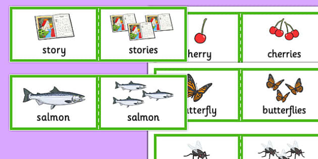 Plural Cards - SLI, irregular plurals, grammar, EAL, language disorder, Language delay