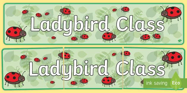Ladybird Class Display Banner - ladybird class, class banner, class display, ladybirds, classroom banner, classroom areas signs, areas, display banner, display