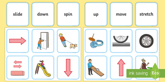 Forces and Motion Matching Cards - forces and motion, forces, motion, matching, match, activity, cards