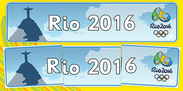 Rio 2016 Display Banner - rio 2016, display banner, display, banner, rio, 2016, olympics, olympic games
