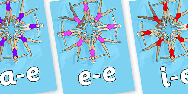 Modifying E Letters on Synchronised Swimming - Modifying E, letters, modify, Phase 5, Phase five, alternative spellings for phonemes, DfES letters and Sounds
