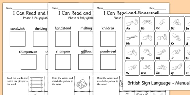 I Can Read and Fingerspell Phase 4 Pack - fingerspell, phase 4