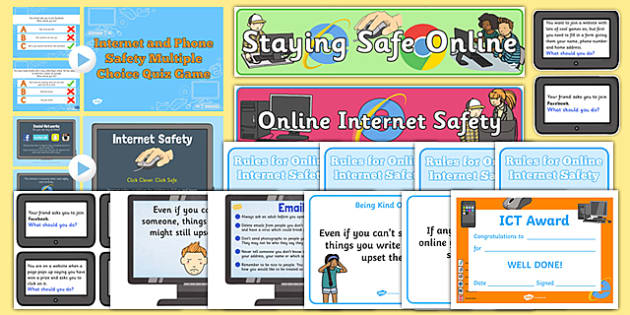 Internet Safety Resource Pack - internet, safety, resource, pack