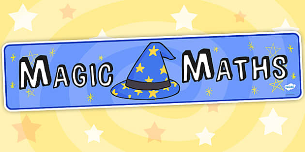 Magic Maths Area Display Banner - maths area, numeracy, banner