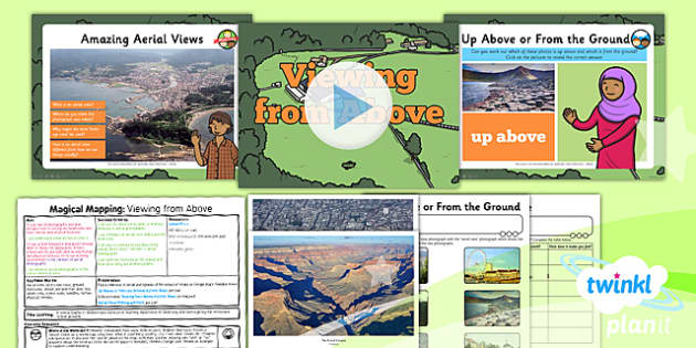 PlanIt - Geography Year 2 - Magical Mapping Lesson 5: Viewing From Above Lesson Pack - maps, planning, geography, year 2, y 2, ks1, key stage 1, plans, lessons, lesson, unit, pack, 2014, curriculum, maps
