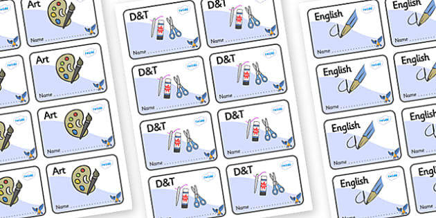 Starling Themed Editable Book Labels - Themed Book label, label, subject labels, exercise book, workbook labels, textbook labels