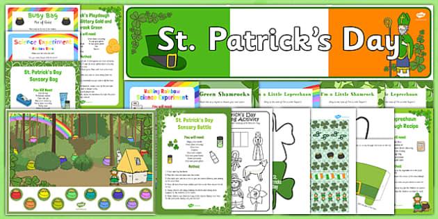Childminder St Patricks Day Resource Pack - St Patrick's Day, childminder, resource pack