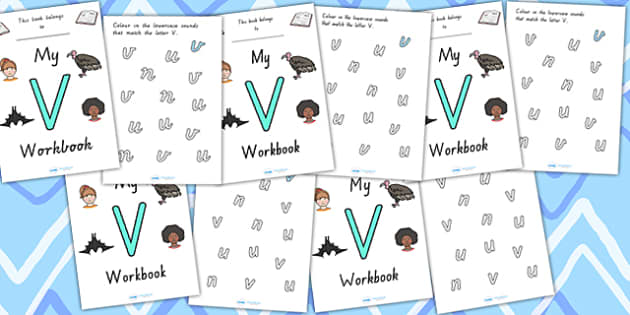 My Workbook V Uppercase - letter formation, fine motor skills