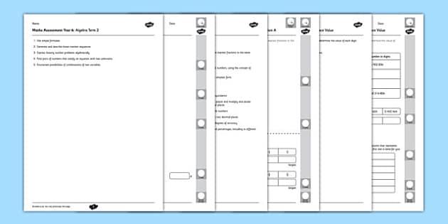 Year 6 Maths Assessment Pack Term 2