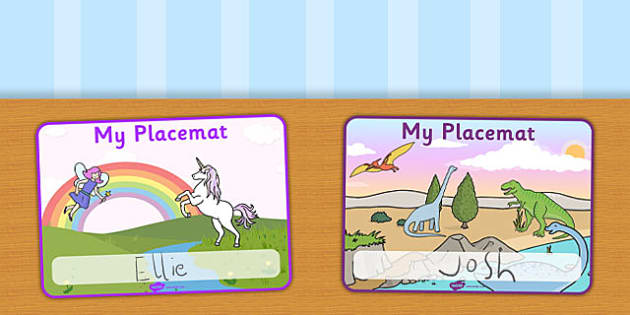 Editable Table Placemat - lunchtime placemat, placemat, dinnertime, food, dinner mat, lunch mat, meal times