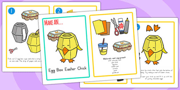 Easter Egg Box Chick Craft Instructions - easter, easter egg
