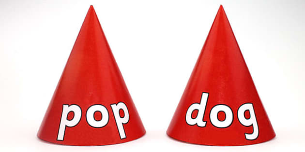 CVC Word Cones o - visual aids, CVC words, word games, word cone