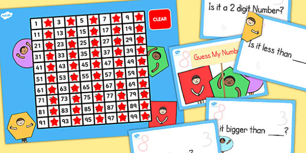 Guess my Number Game Number and Place Value - place value, guess