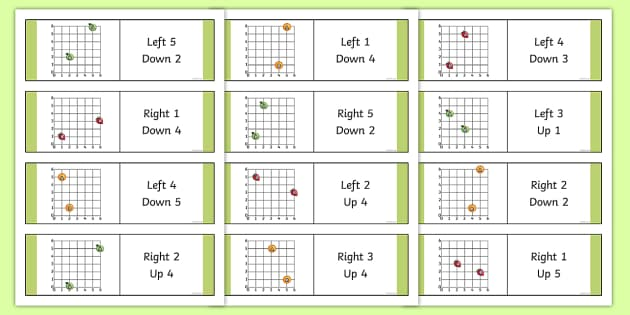 Translation Dominoes - Position and Direction, translation, translations