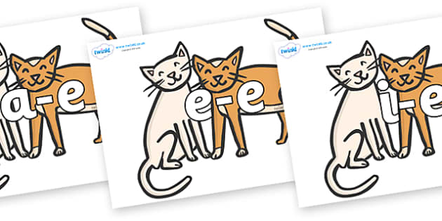 Modifying E Letters on Cats - Modifying E, letters, modify, Phase 5, Phase five, alternative spellings for phonemes, DfES letters and Sounds