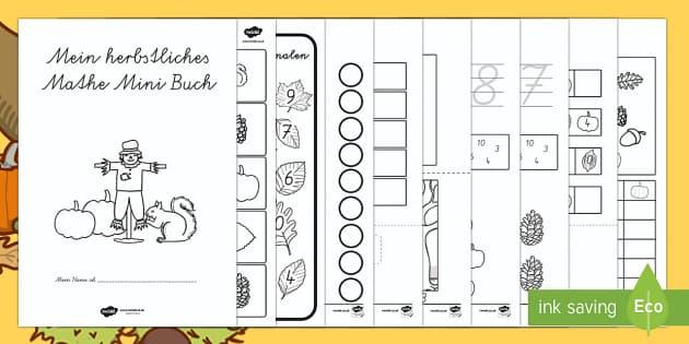 Herbst: Mathe Mini Buch