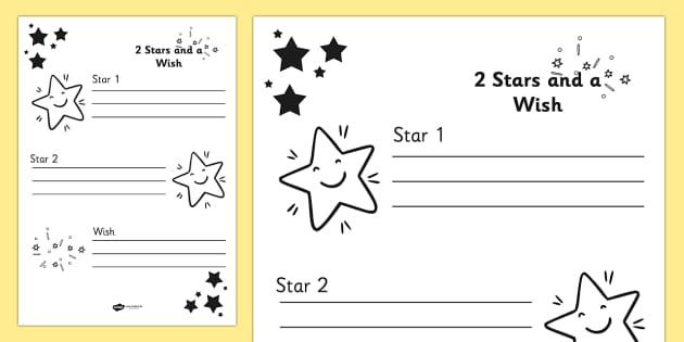 Two Stars and a Wish Target Sheets - target sheets, targets