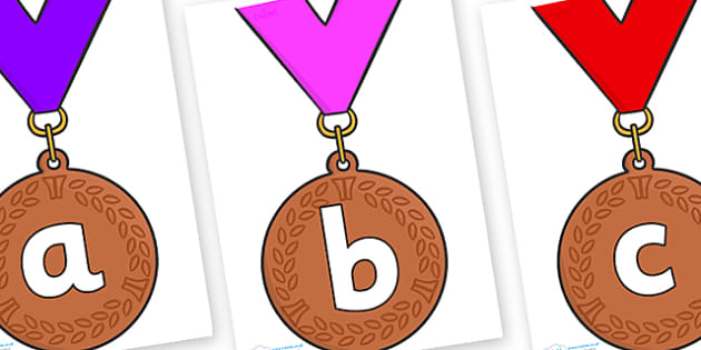 Phoneme Set on Bronze Medal - Phoneme set, phonemes, phoneme, Letters and Sounds, DfES, display, Phase 1, Phase 2, Phase 3, Phase 5, Foundation, Literacy