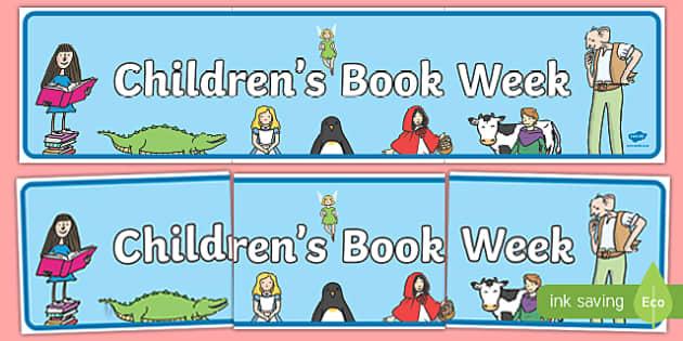 Childrens Book Week Display Banner - book week, reading, books
