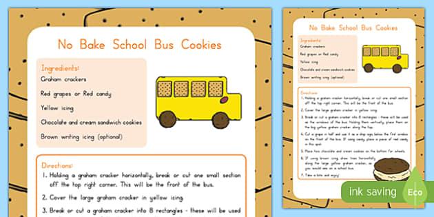 No Bake School Bus Cookie Recipe