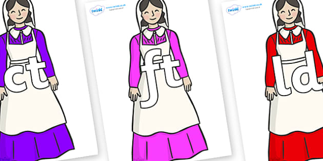 Final Letter Blends on Florence Nightingale - Final Letters, final letter, letter blend, letter blends, consonant, consonants, digraph, trigraph, literacy, alphabet, letters, foundation stage literacy