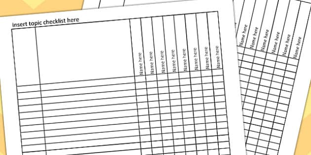 Editable Excel Checklist - editable, excel, checklist, list