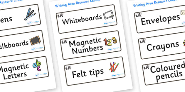 Panda Themed Editable Writing Area Resource Labels - Themed writing resource labels, literacy area labels, writing area resources, Label template, Resource Label, Name Labels, Editable Labels, Drawer Labels, KS1 Labels, Foundation Labels, Foundation