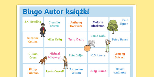 Polish Book-Author-Bingo-A3-Display-Poster-Polish
