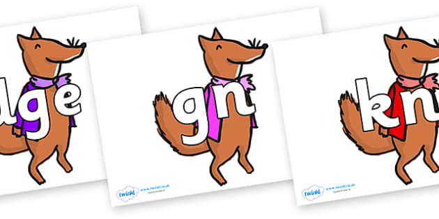 Silent Letters on Small Fox 1 to Support Teaching on Fantastic Mr Fox - Silent Letters, silent letter, letter blend, consonant, consonants, digraph, trigraph, A-Z letters, literacy, alphabet, letters, alternative sounds