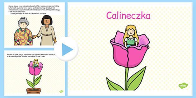 Prezentacja PowerPoint Calineczka po polsku - bajki, basnie