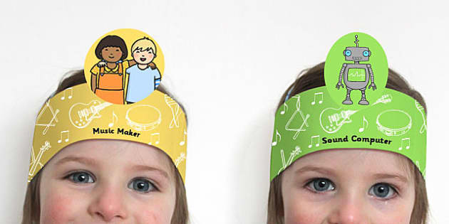 Music Maker and Sound Computer Headbands - music, maker, sound