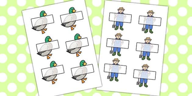 Farmer And Duck Editable Self Registration - farmer duck, editable, self registration, self reg, daily routine, pupil registration, themed self registration