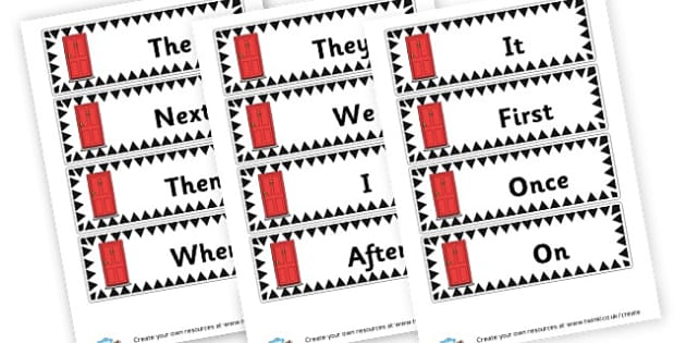 Opener Flashcards - Display Sentence Starters Primary Resources, Display, Letters