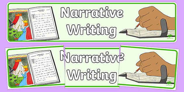 Narrative Writing Display Banner